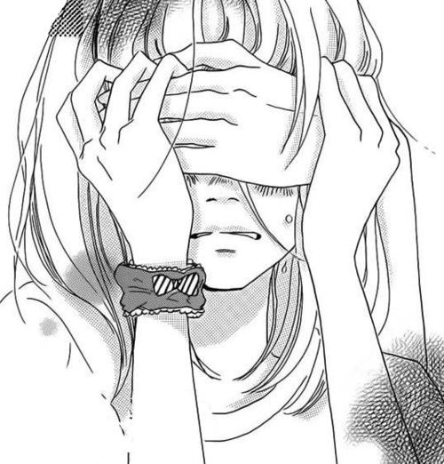 Manga girl sad on pinterest manga girl manga and geek - Manga couple triste ...