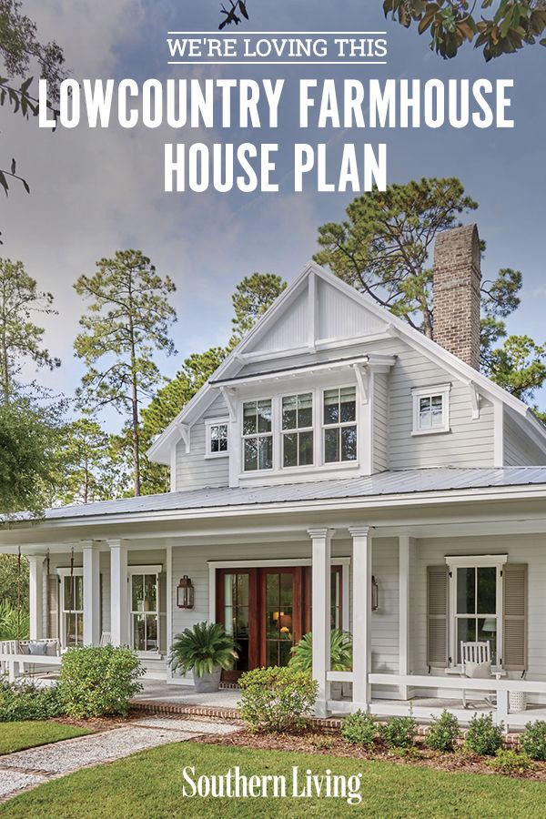 We Re Loving This Lowcountry Farmhouse House Plan House Plans Farmhouse Cottage House Exterior Farmhouse House