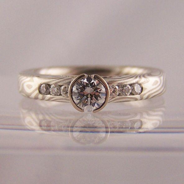 16 best Mokume Gane Wedding Rings images on Pinterest Wood grain