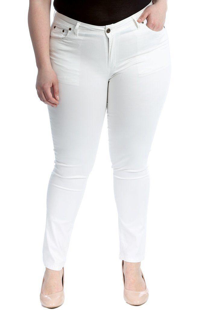 Venta Pantalon Blanco Talla Grande En Stock