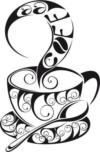 Vinilo decorativo ilustración café 10