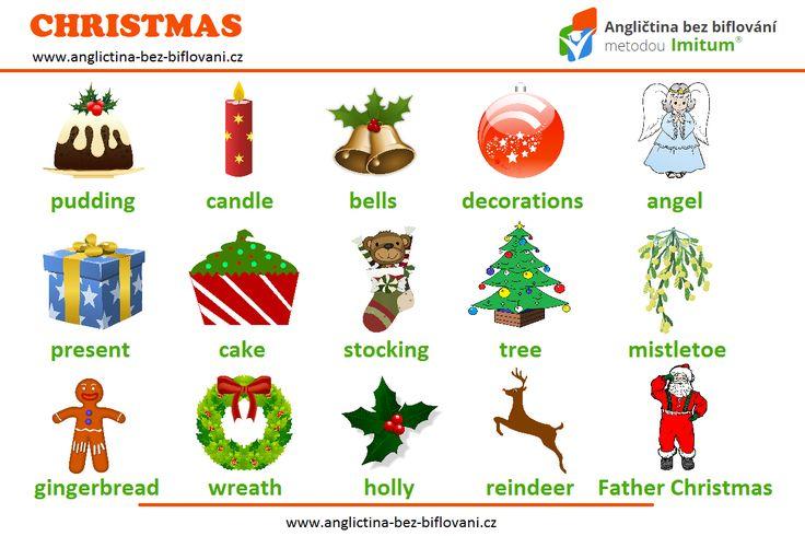 Vánoce se nám pomalu blíží, takže je třeba vybavit se slovní zásobou, která se k těmto křesťanským svátkům váže. 🎄 🎁 🎅 #vocabulary #christmas #anglictina