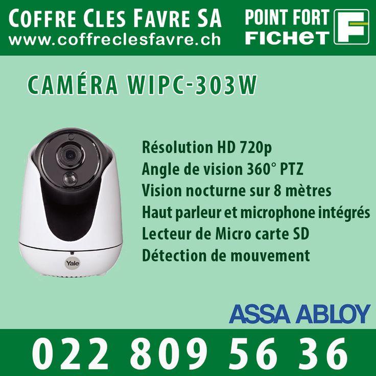 Caméra WIPC-303W  Les caméras IP Yale vous permettent de visualiser, en direct, votre maison ou bureau depuis votre smartphone ou tablette en qualité HD 720P. #Pointfortfichet #Geneve #videosurveillance #camera