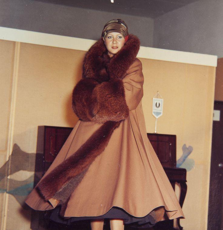 """Pokaz kolekcji """"Mody Polskiej"""", lata 70., wł. MNK #PRL #Moda Polska #Polish fashion #Jerzy Antkowiak"""