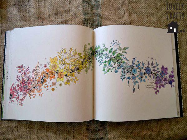 Taste the Rainbow Secret Garden, Johanna Basford