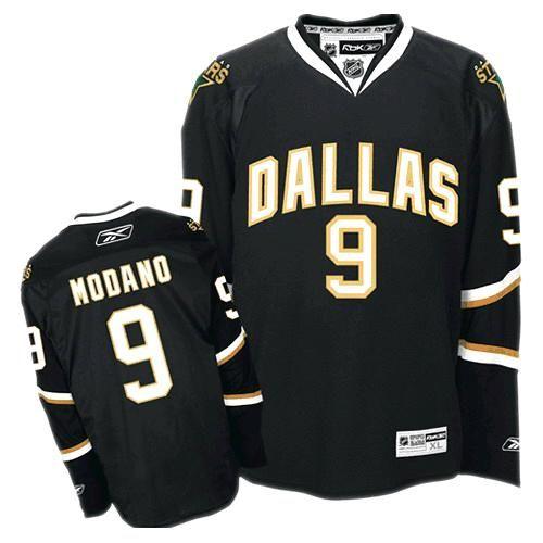 Dallas Stars Mike Modano 9 Black Authentic Jersey Sale