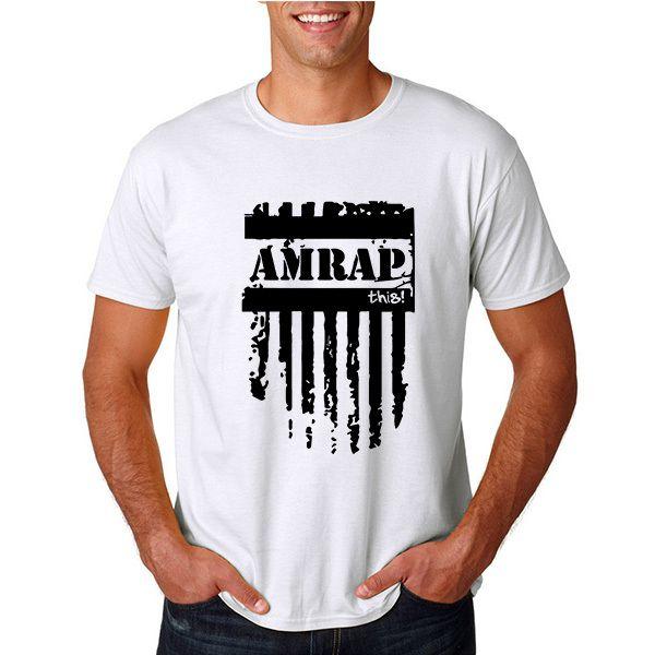Lato Amrap Ten Crossfit T-shirt Letni Mężczyzna Crewneck Biegów Kulturystyka Koszulki z krótkim rękawem TShirt Mężczyzn