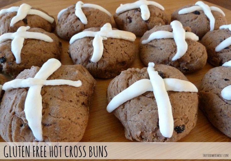 Gluten free hot cross buns recipe thefoodwerewolf.com #glutenfree #easter #hotcrossbun