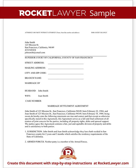 25 best ideas about Divorce Settlement Agreement – Domestic Partnership Agreement