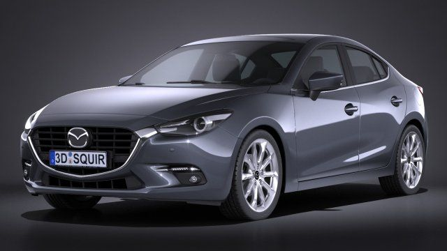 Mazda 3 sedan 2017 3D Model .max .c4d .obj .3ds .fbx .lwo .stl @3DExport.com by SQUIR
