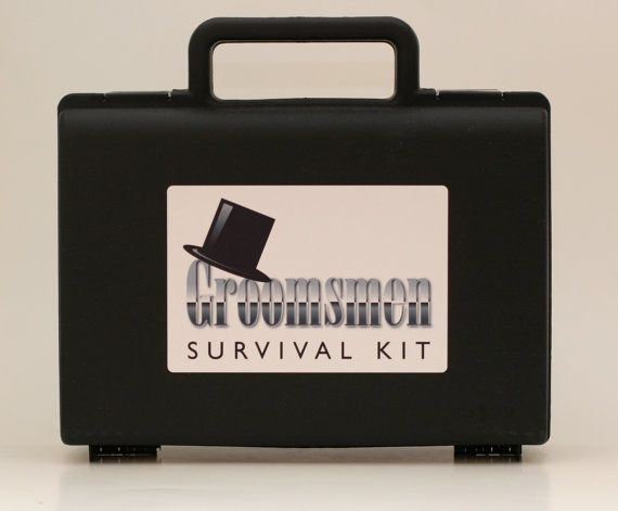 DIY Groomsmen Wedding Day Emergency Survival Kit Gift on Etsy, $16.95