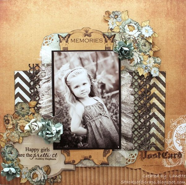 Memories -Happy Girl - Scrapbook.com