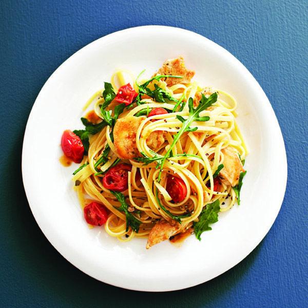 Garlicky chicken pasta recipe