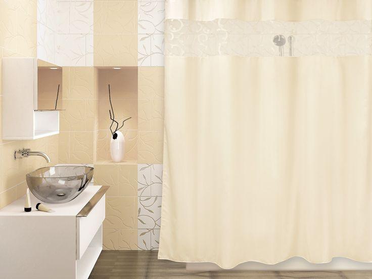 WESS Numkesh beige - занавеска для ванной комнаты из ткани 200x200 см. Цена 1270р. Посмотреть на сайте: http://likemyhome.ru/catalog/shtorki-karnizy-kolca/00003810 #likemyhome #showercurtain #bathroomdecor #interiorstyle #wess #numkesh