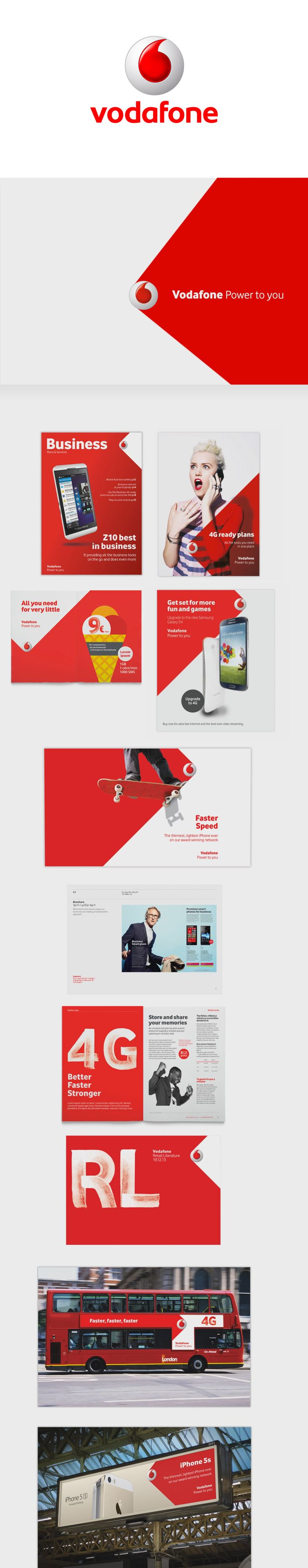 Pinned from https://pinterest.com/rothenhaeusler/best-of-corporate-design/ ·  Client: Vodafone · Agency: Jung von Matt/Alster #branding #identity #corporatedesign