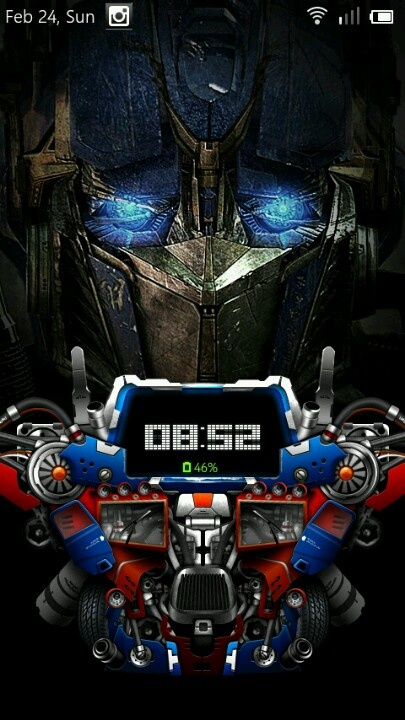 Optimus prime lock screen