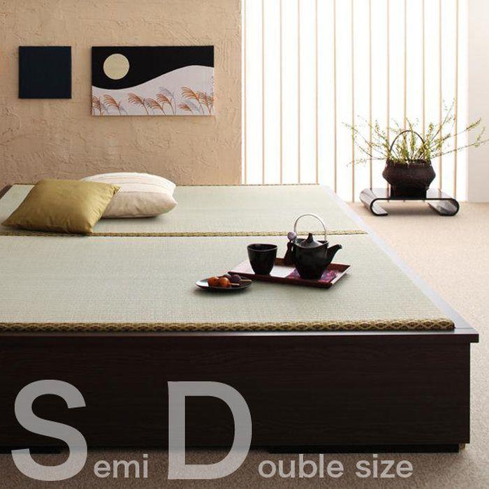 モダンデザイン畳収納ベッド【花梨】Karin〈セミダブル〉《代引不可》《送料無料》