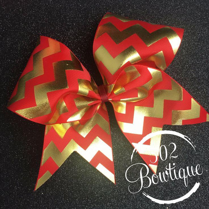 Glitter Chevron Stripe Grosgrain Cheer Bow (multiply colors)