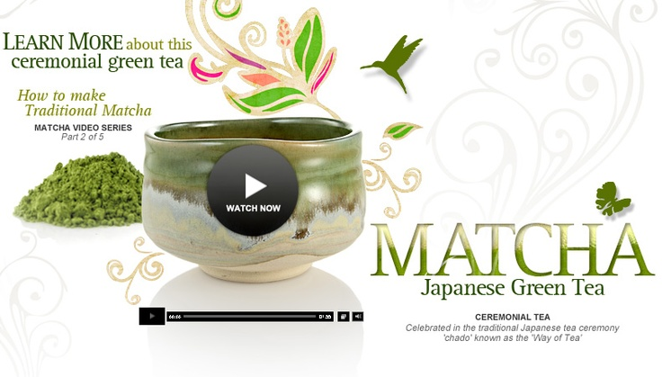 Matcha Green Tea at Teavana is more than a simple tea to drink. Here's why you should be drinking this traditional tea. Check out the video!