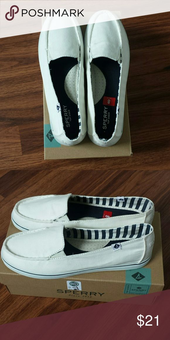 Sperry zuma white slip on sneakers NWT New with tags  In box  White Sperry slip on sneakers   FIRM Sperry Top-Sider Shoes Sneakers
