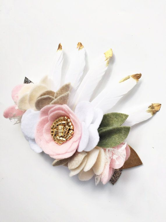 Wild One Birthday Crown  Felt Flower Crown  by SweetMimiStudio