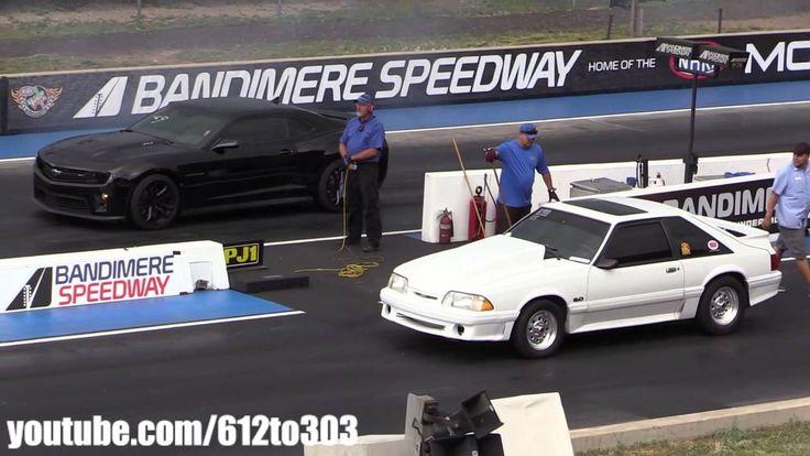 Драг Рейсинг Chevrolet Camaro vs Foxbody Ford Mustang Drag Race