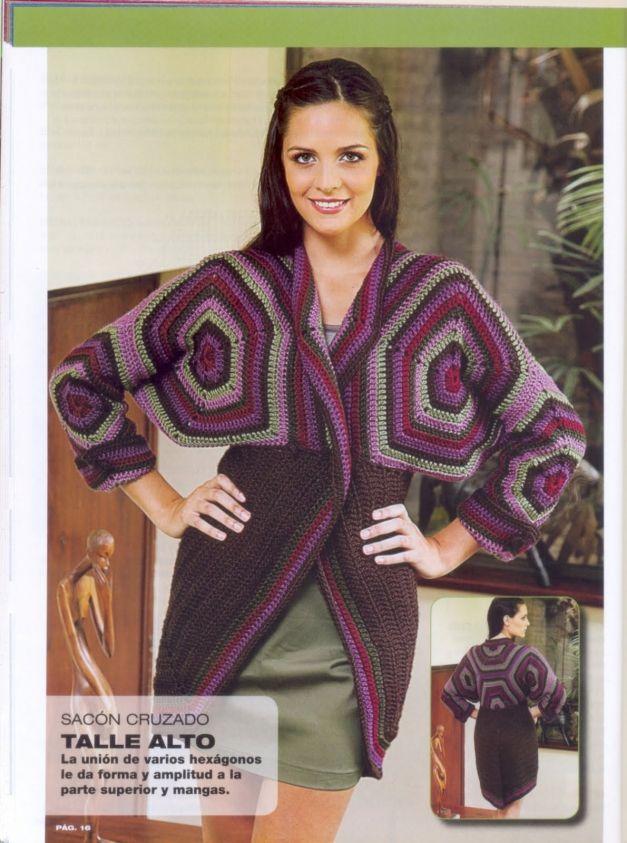 110 best Crochet sacos images on Pinterest | Ropas de ganchillo ...