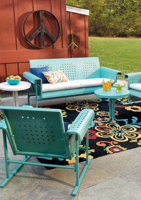 A happy, creamy turquoise to make the patio bright. Party time!***I would love to do this