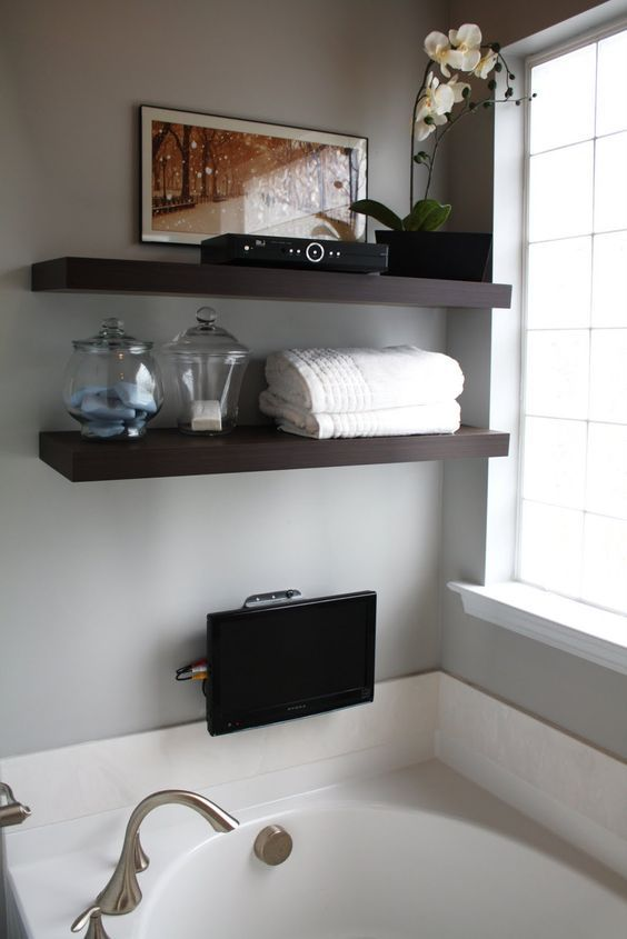 shelf over bath - Google Search