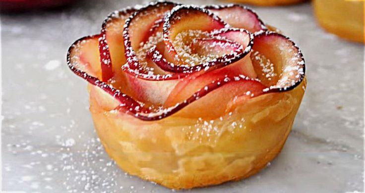 Voici comment faire de d�licieuses roses aux pommes, un dessert sublime!