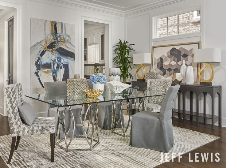 """The """"Argent Dining Room"""" vignette collaboration with Walter E Smithe"""