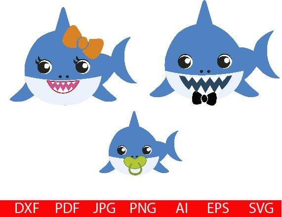 Baby Shark Svg Family Sharks Doo Doo Doo Svg Shark Svg Dxf Eps Png Jpg Files Baby Svg Doo Doo Svg Daddy Shark S Baby Shark Baby Shark Doo Doo Baby