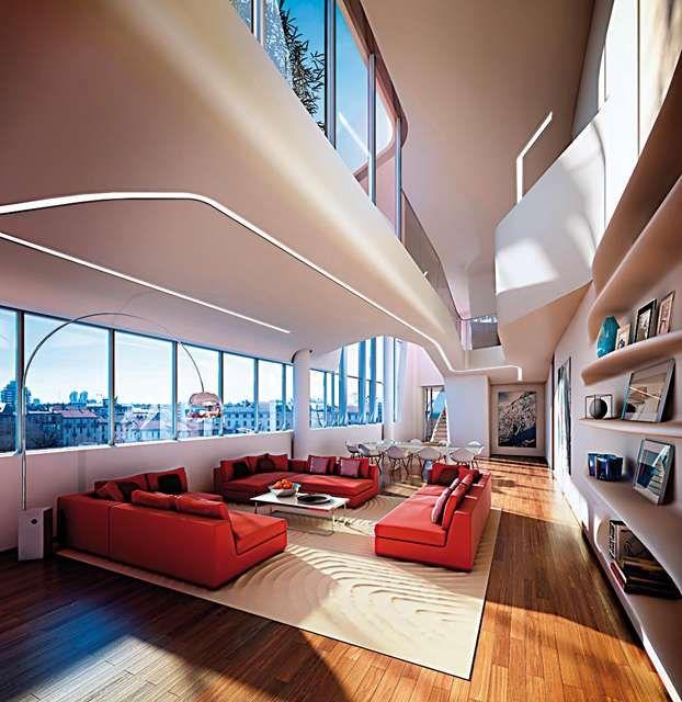 23 best images about city life appartamenti interni on for Appartamenti prestigio milano