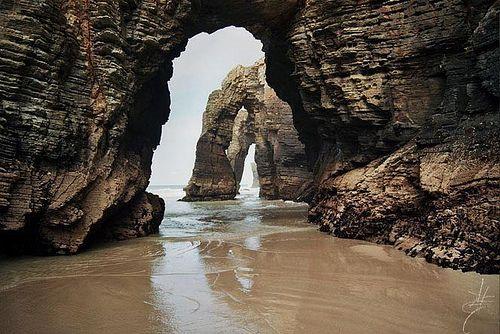 playa de las catedrales, lugo, spain