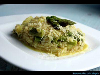 Kolorowa Kuchnia Magdy: Risotto ze szparagami