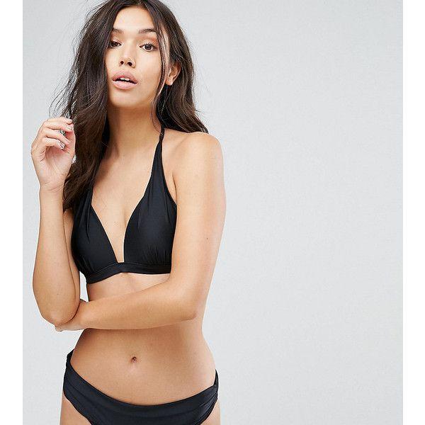 South Beach Mix And Match Super Push Up Bikini Top (€22) ❤ liked on Polyvore featuring swimwear, bikinis, bikini tops, black, swim suit tops, beach cover up, halterneck bikini top, swim tops and halter neck bikini top