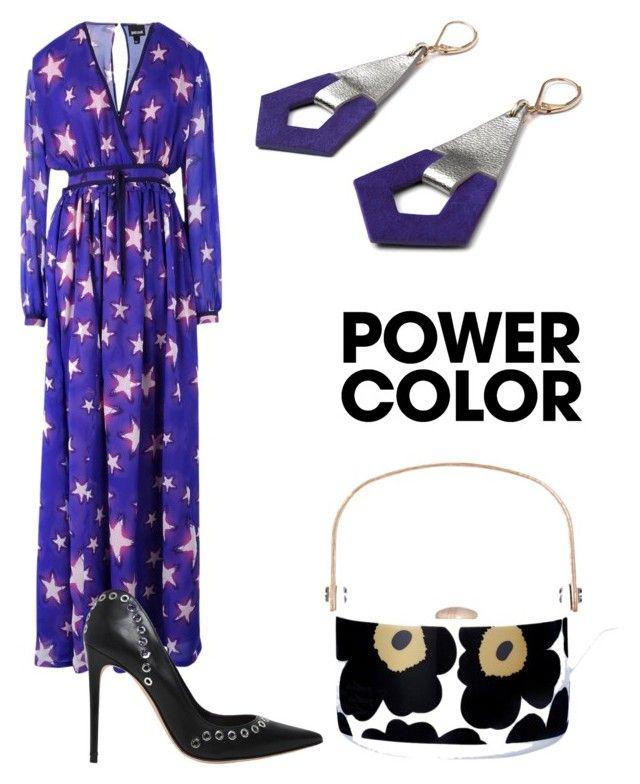 """Untitled #3014"" by aqualyra ❤ liked on Polyvore featuring Just Cavalli, Alexander McQueen, Marimekko, Camille Roussel, purplepower, internationalwomensday and pressforprogress"