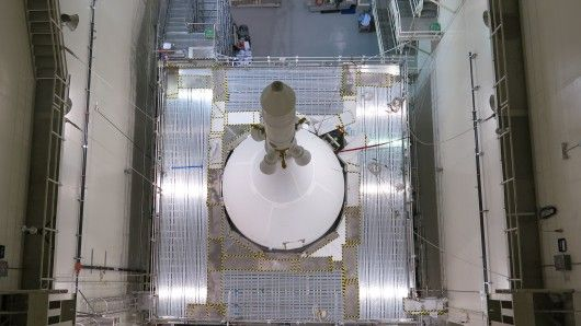 Final assembly of Orion spacecraft completed. The spacecraft's components have all been assembled, including the launch abort escape tow...