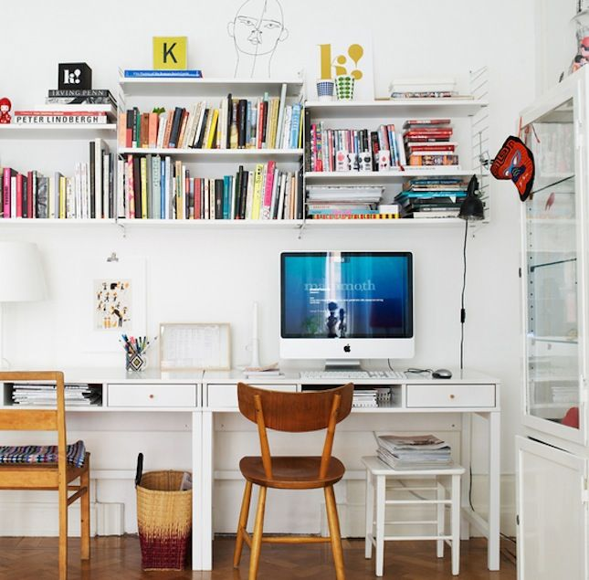 Best 25 double desk office ideas on pinterest double for Tumblr desk ideas