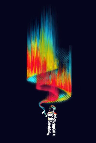 """Space vandal"" Art Print by Budi Satria Kwan on Society6."