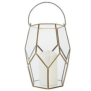 Copper Clear Glass Hurricane Lamp #kaleidoscope #home #trend