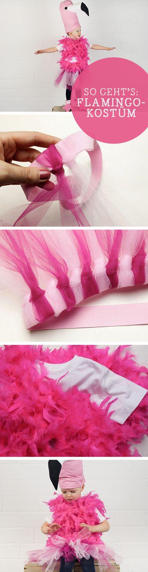 Kostenlose Anleitung: Kinderkostüm für den Fasching, Flamingo / free diy tutorial for kids: flamingo costume via DaWanda.com
