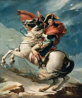 Jacques Louis David - Napoleon Crossing the Alps on 20th May 1800