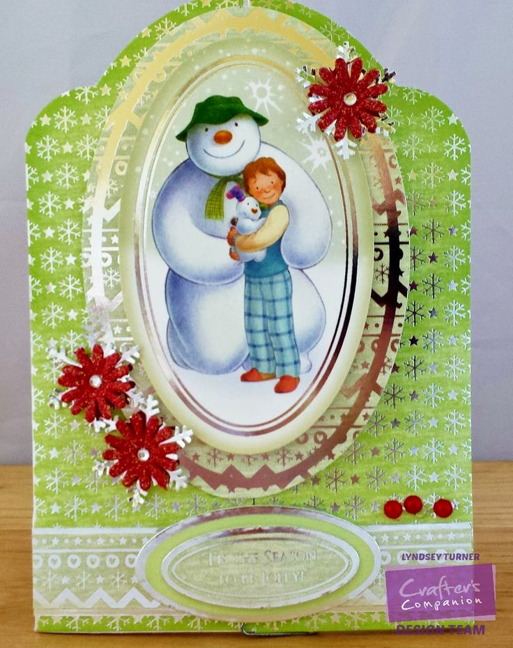 Crafters Companion Snowman/Snowdog Pop Out Card Cut up and turned into a Gatefold