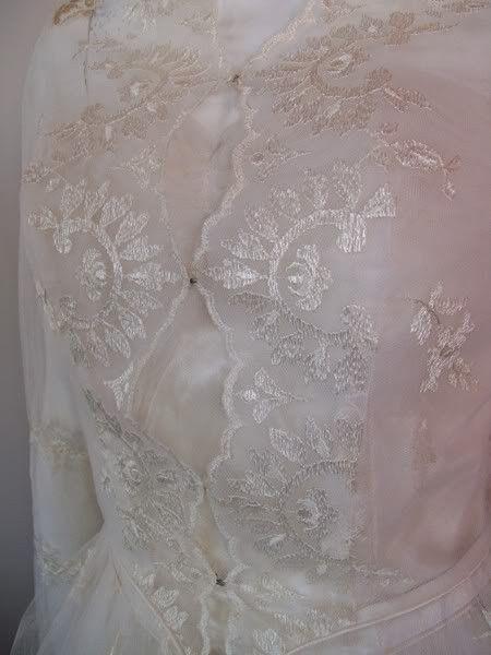 Grace Kelly Style Lace Wedding Gown & Jacket circa 1950s - Dorothea's Closet Vintage