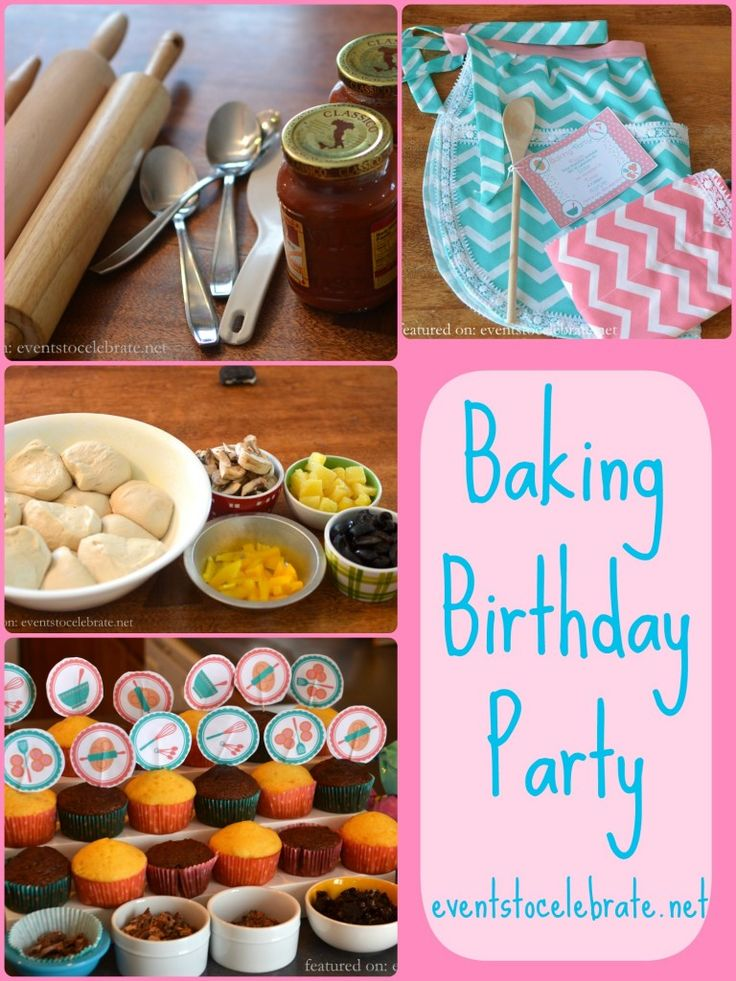 Baking Birthday Party Baking birthday parties, Kids