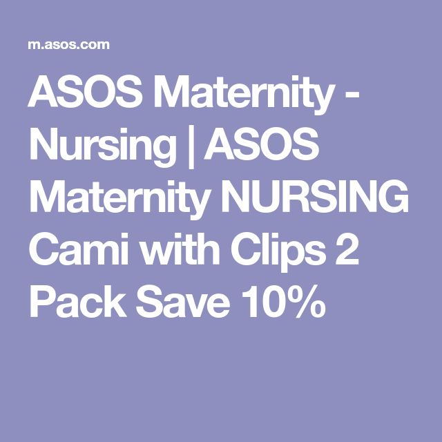 ASOS Maternity - Nursing | ASOS Maternity NURSING Cami with Clips 2 Pack Save 10%