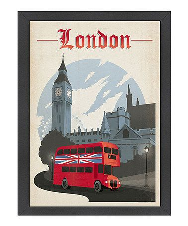 This Bus 'London' Wall Art by Anderson Design Group is perfect! #zulilyfinds