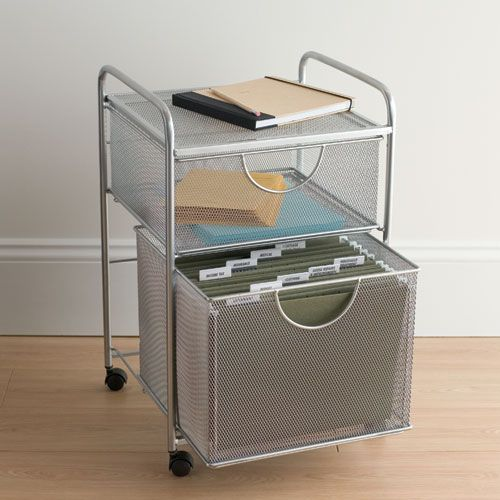 Just in time for tax season the mesh rolling cart has 2 for Ikea metal cart with drawers