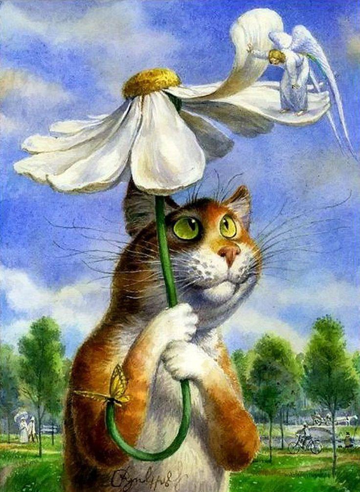 открытки с котами от александра связи последними событиями